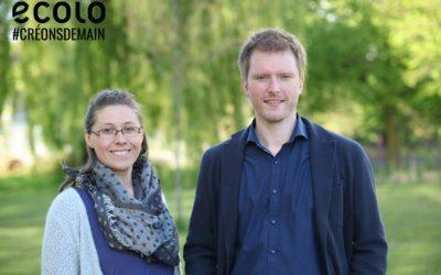 Simon Varrasse et Chloé Deltour mèneront la liste Ecolo aux élections communales de 2018